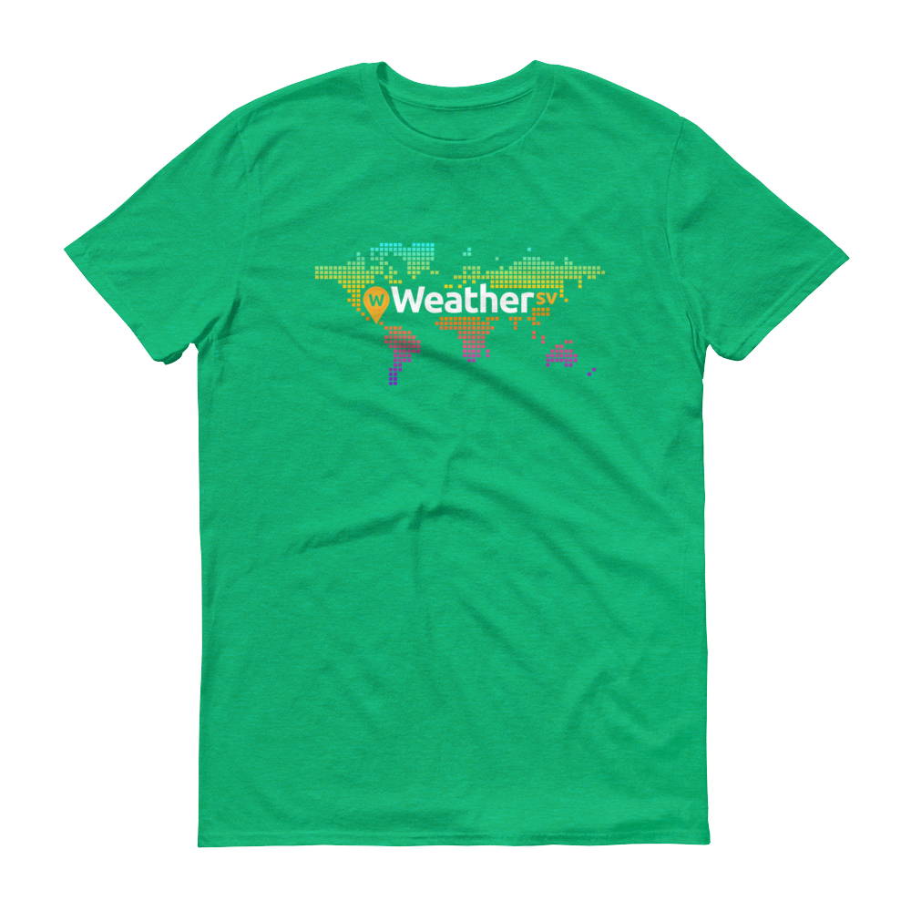 Weather SV Short-Sleeve T-Shirt Heather Green S - zeroconfs