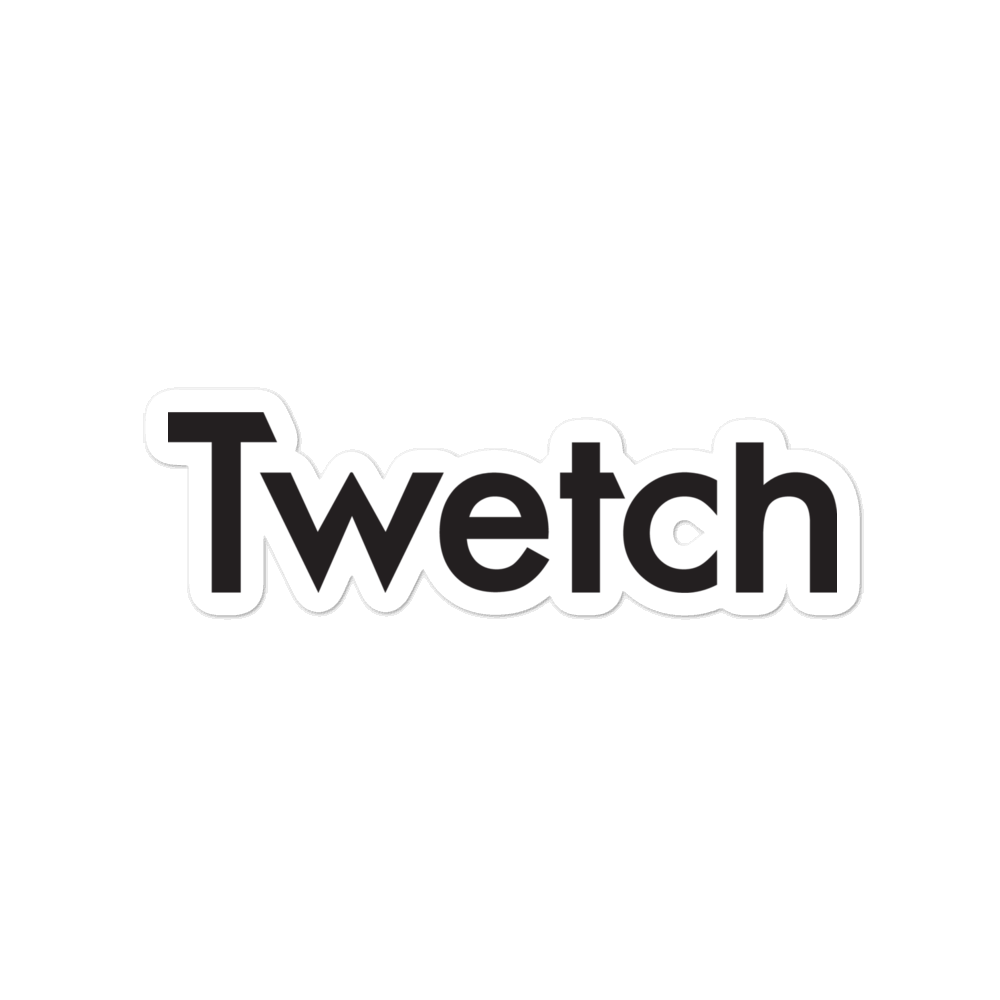 Twetch Logo Bubble-Free Vinyl Stickers 4 inch  - zeroconfs