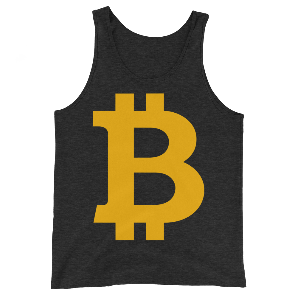 Bitcoin B Tank Top Charcoal-Black Triblend XS - zeroconfs