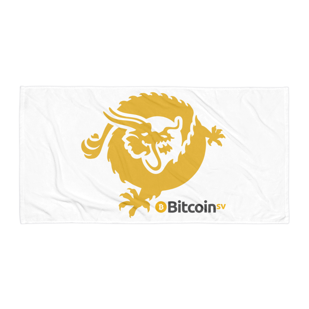 Bitcoin SV Dragon Beach Towel White Default Title  - zeroconfs