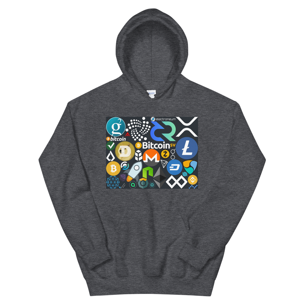 Crypto Calling Hooded Sweatshirt Dark Heather S - zeroconfs