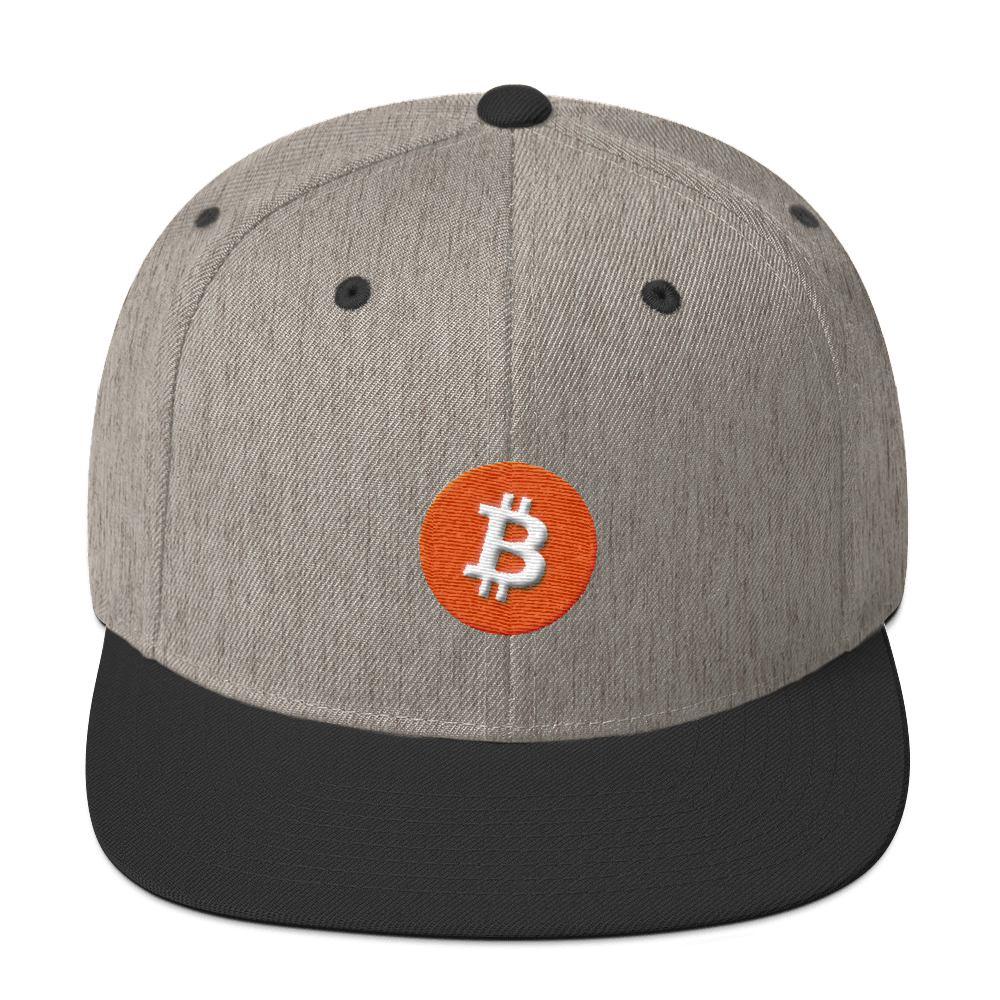 Bitcoin Core Snapback Hat Heather/Black  - zeroconfs