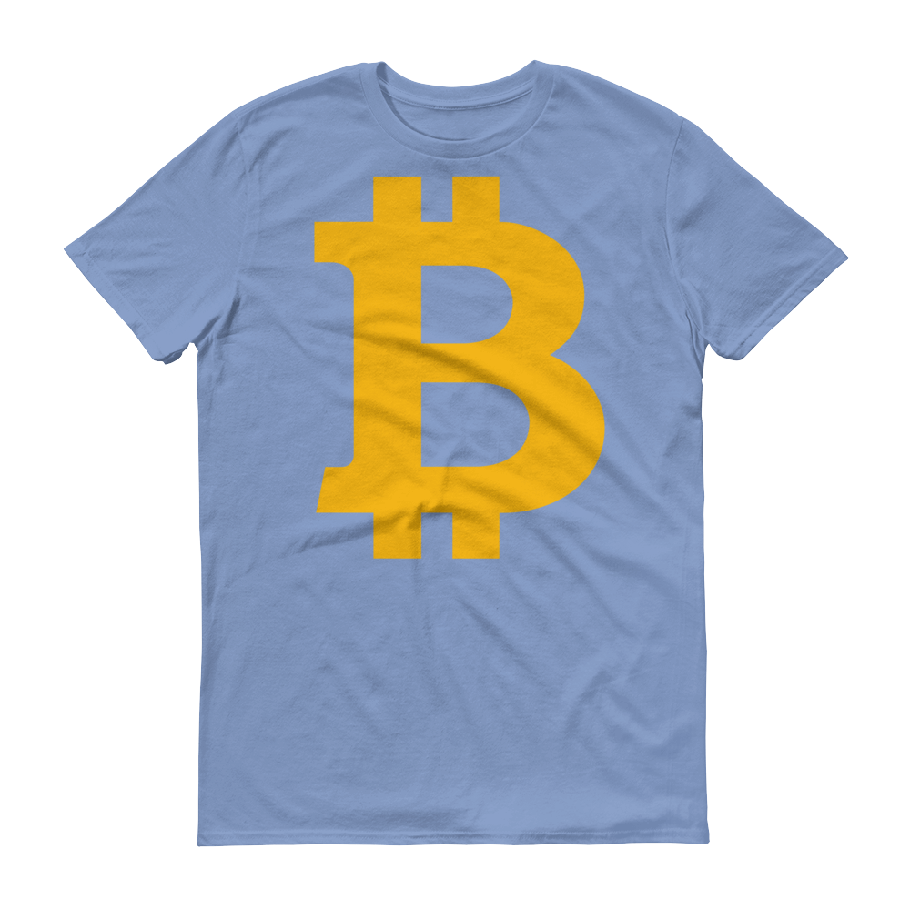 Bitcoin B Short-Sleeve T-Shirt Light Blue S - zeroconfs