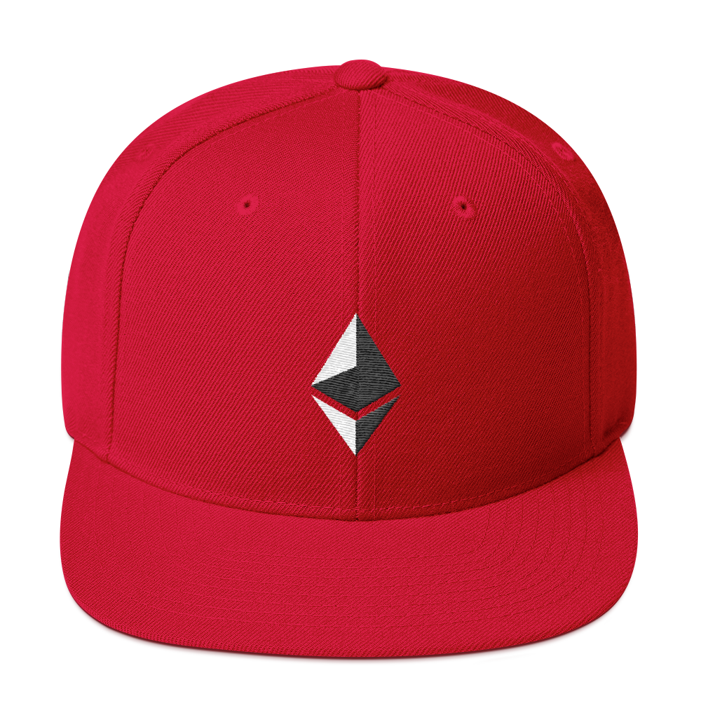 Ethereum Snapback Hat Red  - zeroconfs