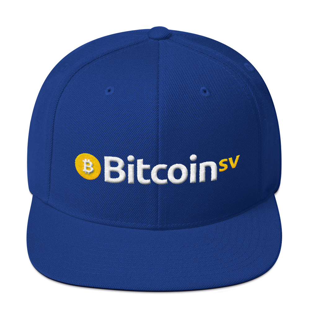 Bitcoin SV Snapback Hat Royal Blue  - zeroconfs