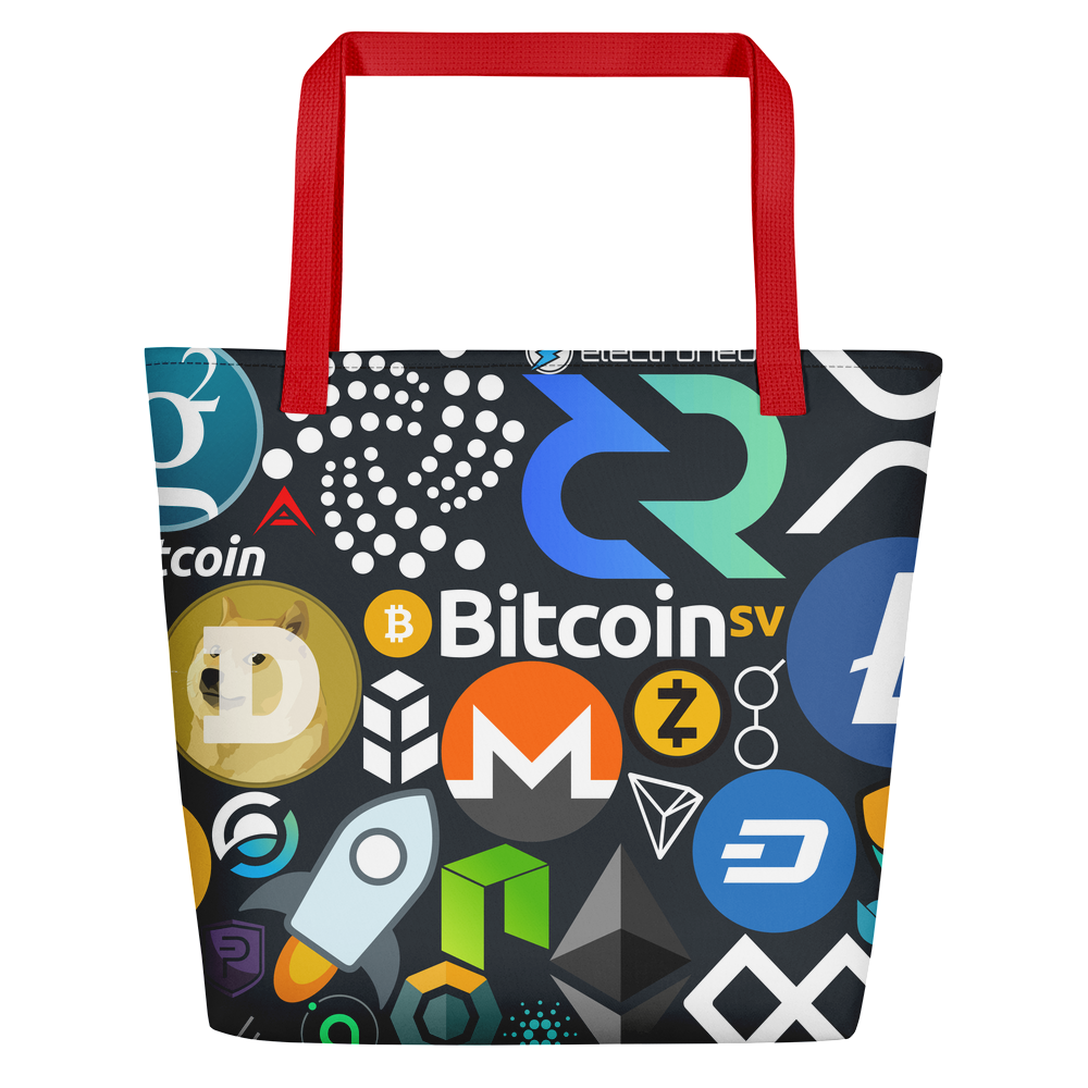 Crypto Calling Beach Bag Red  - zeroconfs