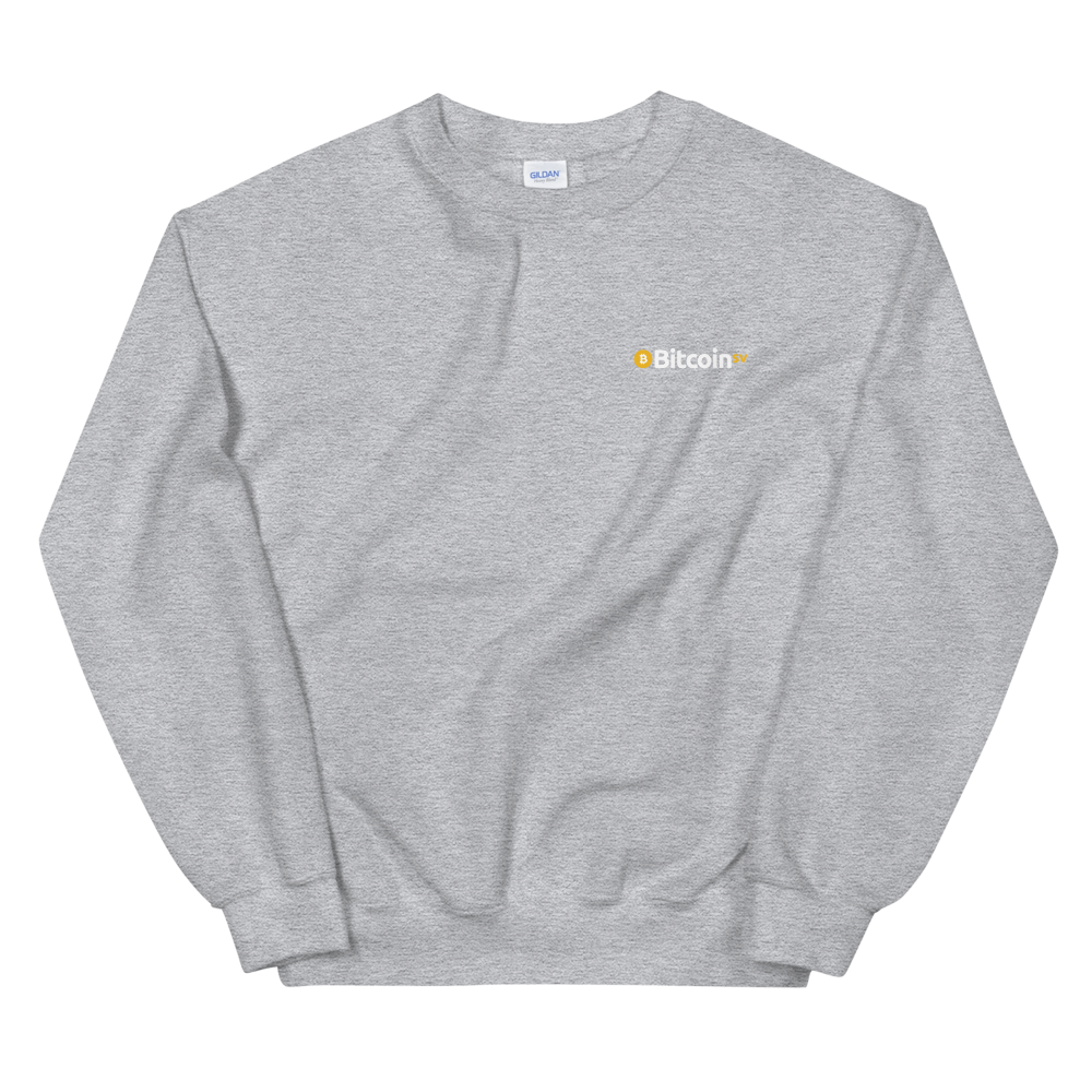 Bitcoin SV Woken Dragon Sweatshirt Back Sport Grey S - zeroconfs