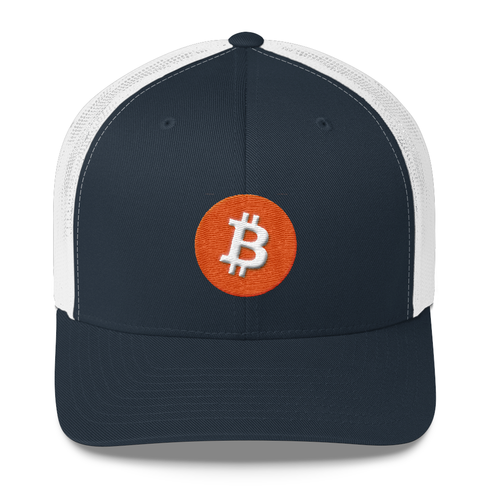 Bitcoin Core Trucker Cap Navy/ White  - zeroconfs