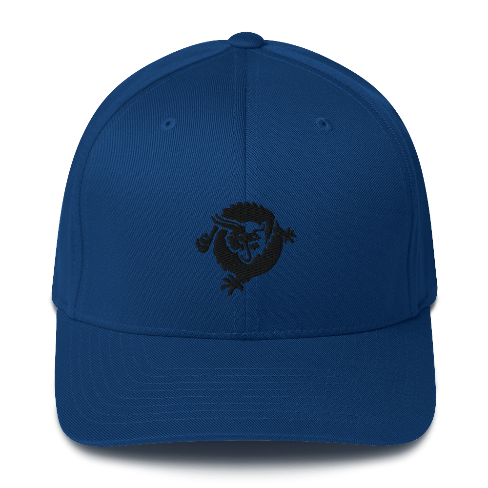 Bitcoin SV Dragon Flexfit Cap Black Royal Blue S/M - zeroconfs