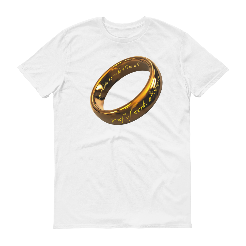 One Chain To Rule Them All Bitcoin SV Short-Sleeve T-Shirt White S - zeroconfs