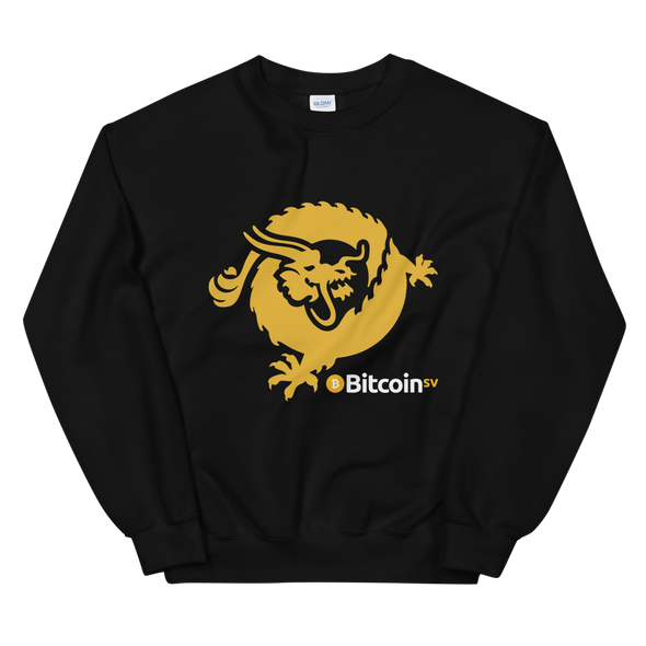 Bitcoin SV Dragon Women's Sweatshirt Black S - zeroconfs