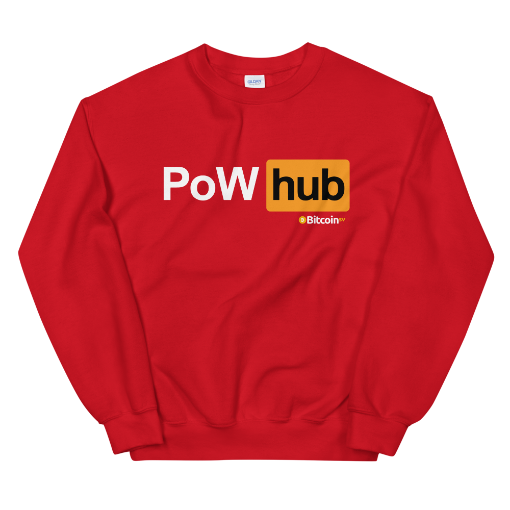 Proof Of Work Hub Bitcoin SV Women's Sweatshirt Red S - zeroconfs