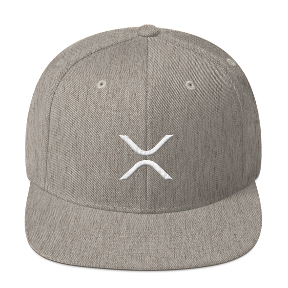 Ripple Snapback Hat Heather Grey  - zeroconfs