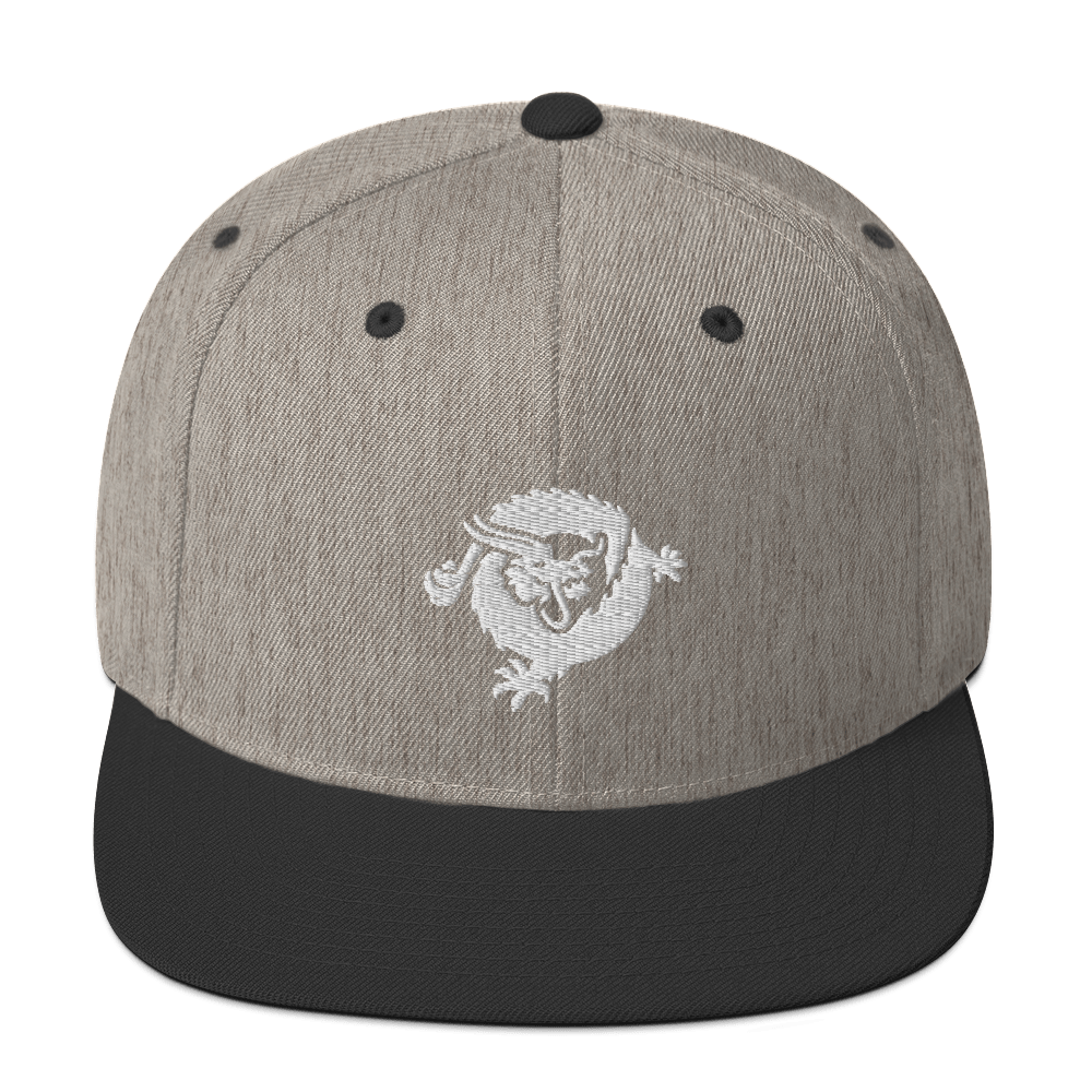Bitcoin SV Dragon Snapback Hat White Heather/Black  - zeroconfs