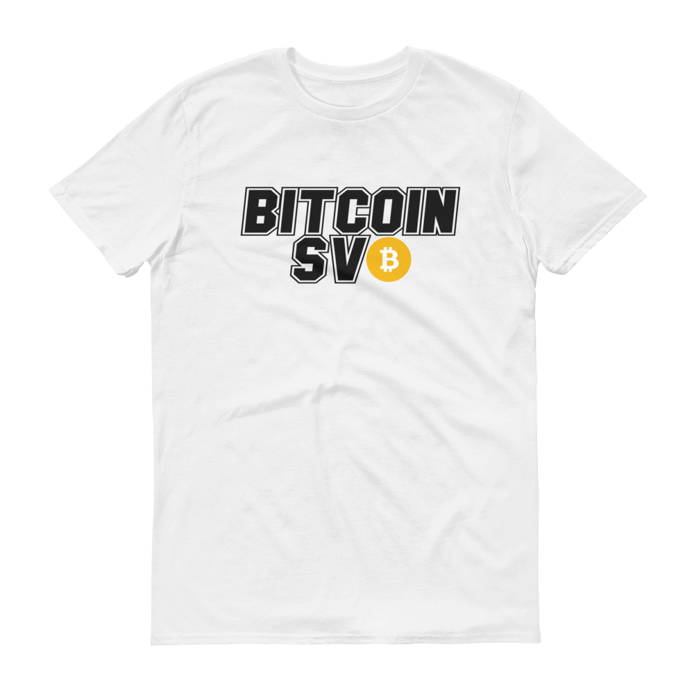 Bitcoin SV Sports Short-Sleeve T-Shirt White S - zeroconfs