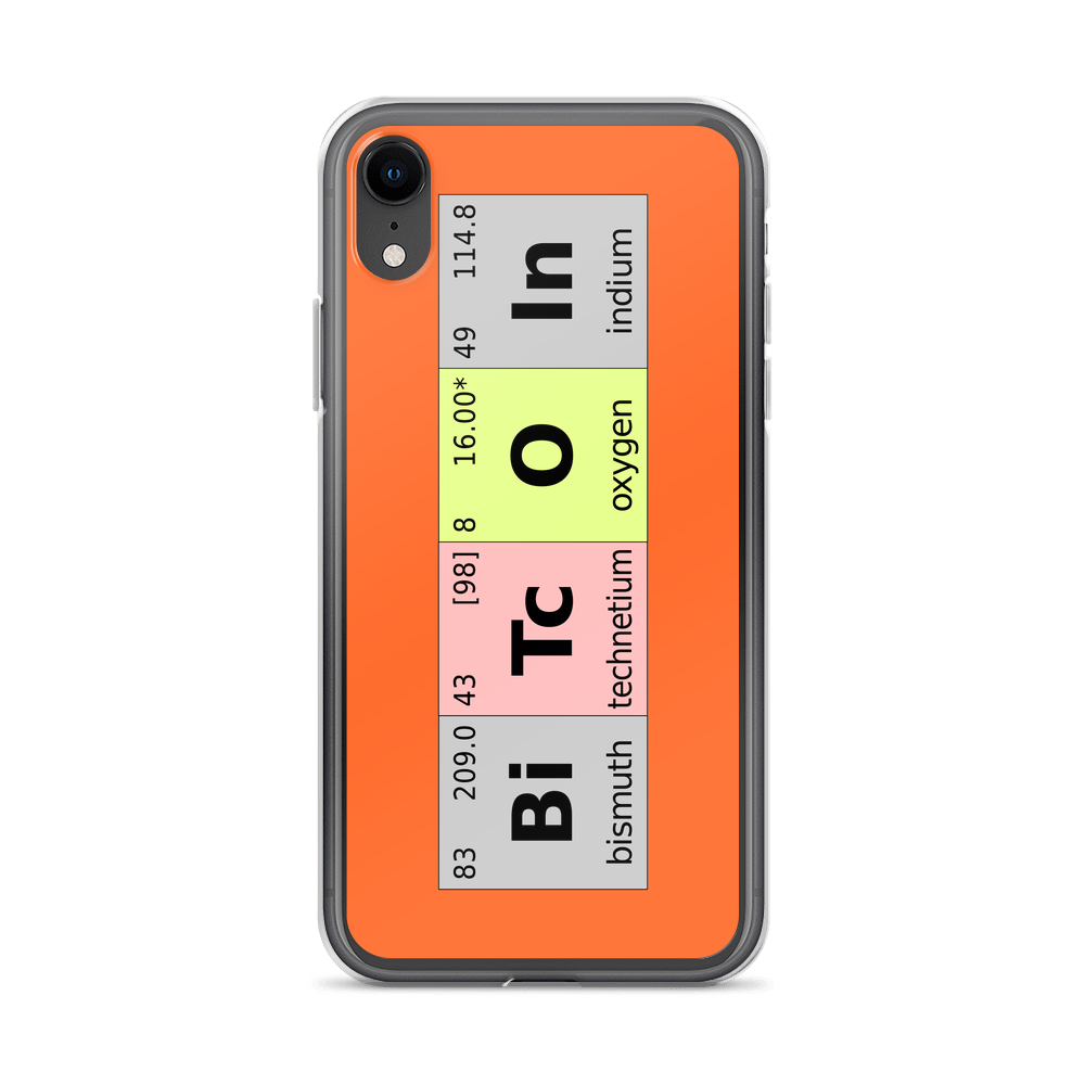 Bitcoin Periodic Table iPhone Case iPhone XR  - zeroconfs