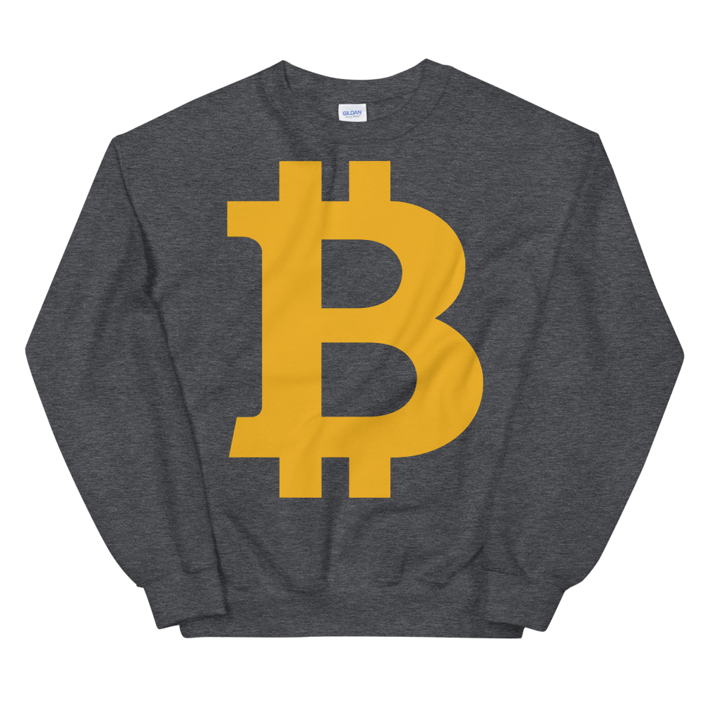Bitcoin B Sweatshirt Dark Heather S - zeroconfs