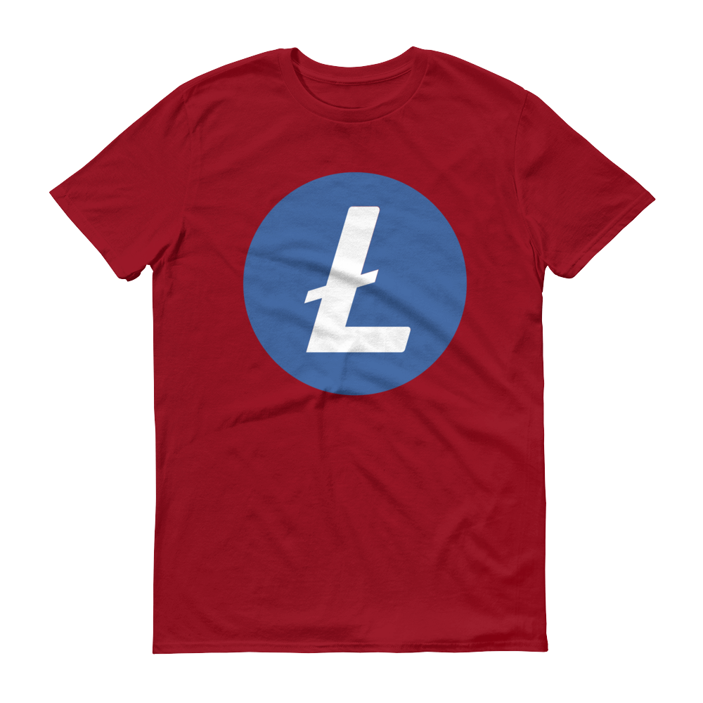 Litecoin Short-Sleeve T-Shirt Independence Red S - zeroconfs