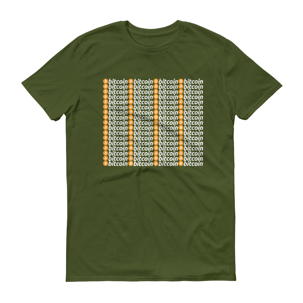 Bitcoins Short-Sleeve T-Shirt City Green S - zeroconfs