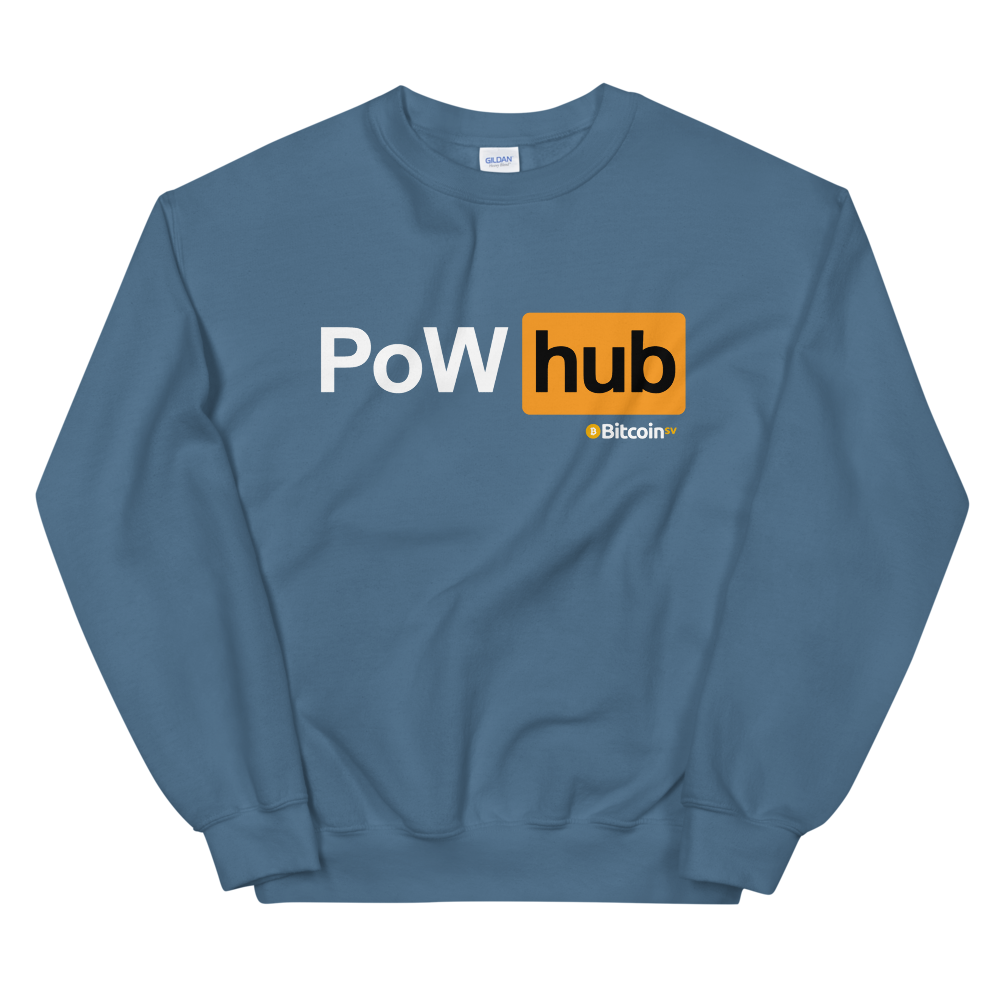 Proof Of Work Hub Bitcoin SV Women's Sweatshirt Indigo Blue S - zeroconfs