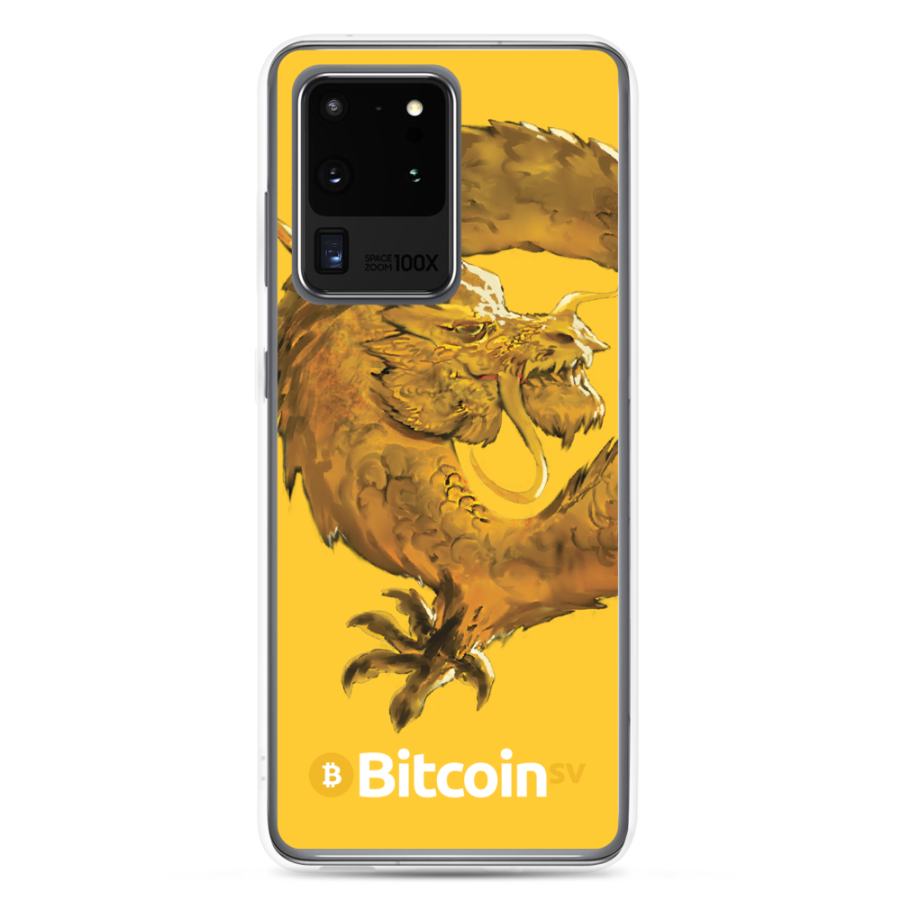 Bitcoin SV Woken Dragon Samsung Case Yellow Samsung Galaxy S20 Ultra  - zeroconfs