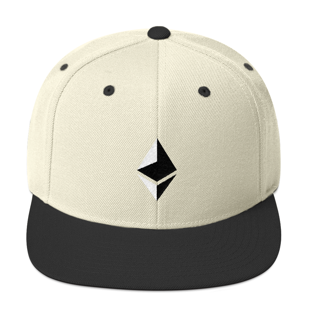 Ethereum Snapback Hat Natural/ Black  - zeroconfs
