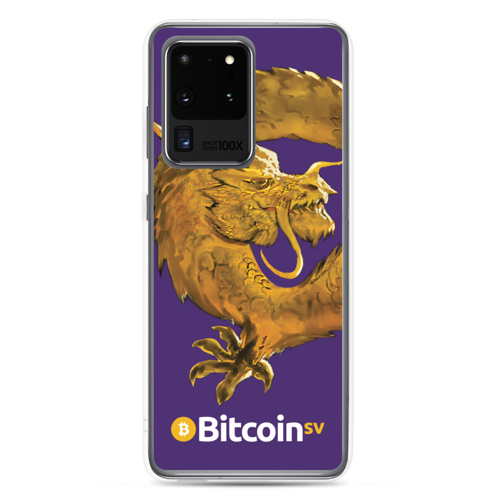 Bitcoin SV Woken Dragon Samsung Case Purple Samsung Galaxy S20 Ultra  - zeroconfs