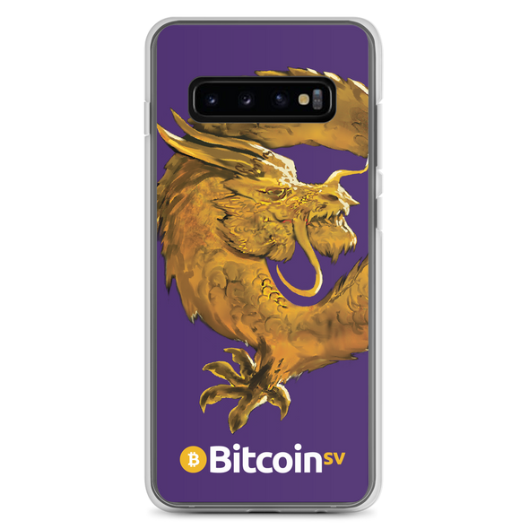 Bitcoin SV Woken Dragon Samsung Case Purple Samsung Galaxy S10+  - zeroconfs