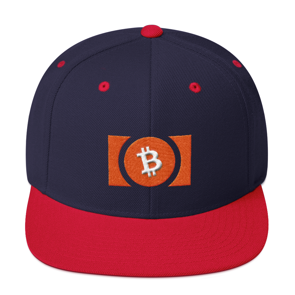 Bitcoin Cash Snapback Hat Navy/ Red  - zeroconfs