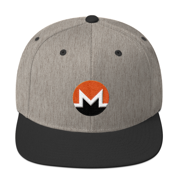 Monero Snapback Hat Heather/Black  - zeroconfs