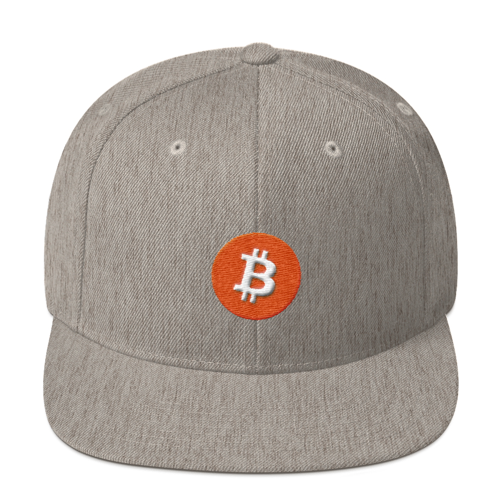 Bitcoin Core Snapback Hat Heather Grey  - zeroconfs
