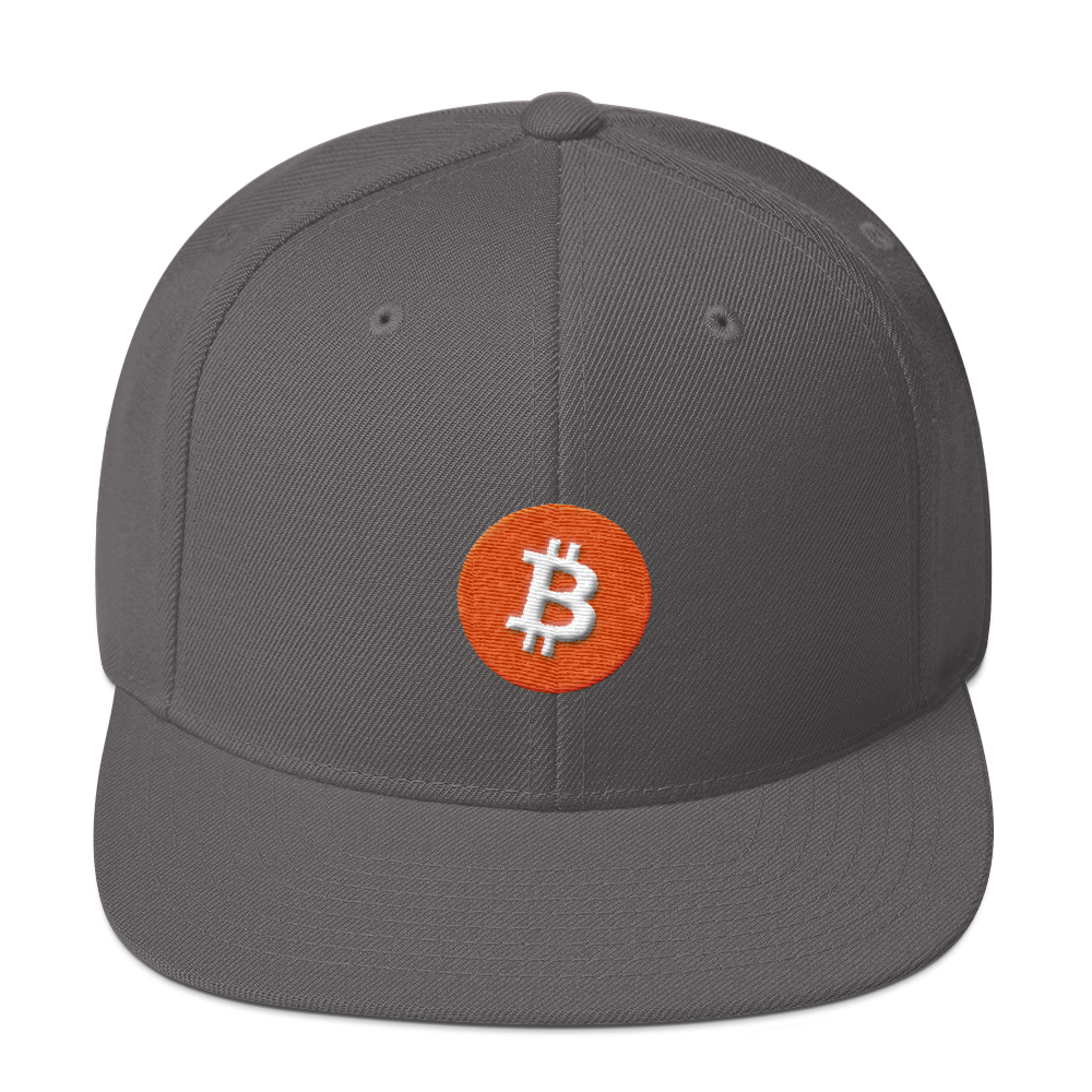 Bitcoin Core Snapback Hat Dark Grey  - zeroconfs