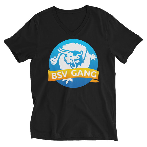 Bitcoin SV Gang V-Neck T-Shirt Black S - zeroconfs