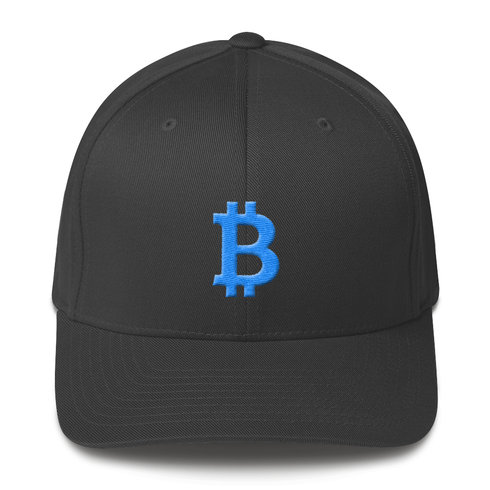 Bitcoin B Flexfit Cap Teal Dark Grey S/M - zeroconfs