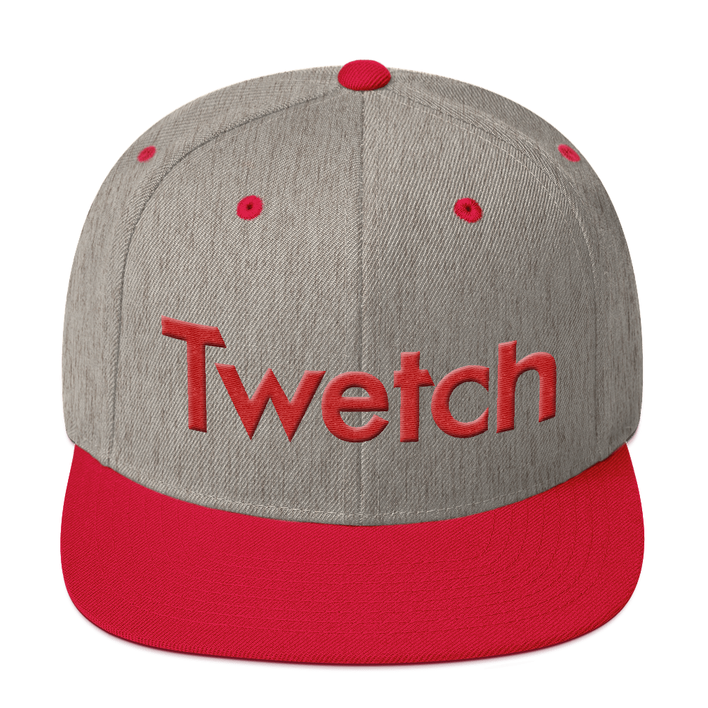 Twetch Snapback Hat Red Heather Grey/ Red  - zeroconfs