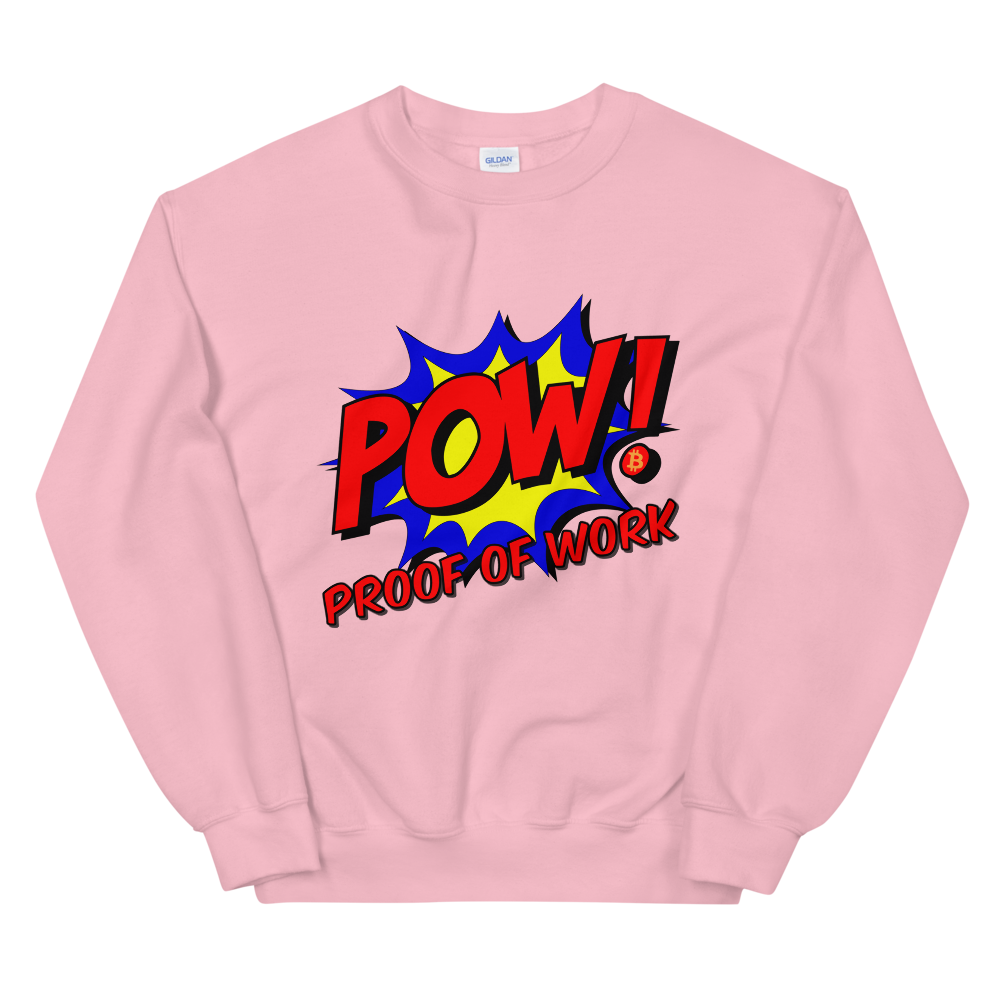 Proof Of Work Bitcoin SV Sweatshirt Light Pink S - zeroconfs