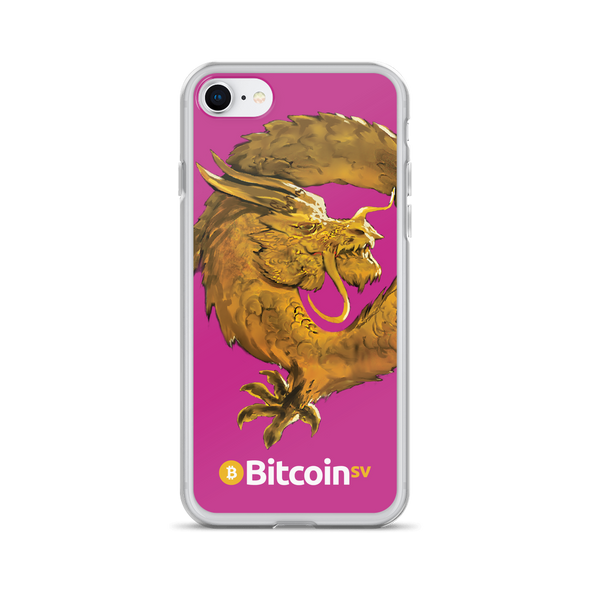 Bitcoin SV Woken Dragon iPhone Case Pink iPhone 7/8  - zeroconfs