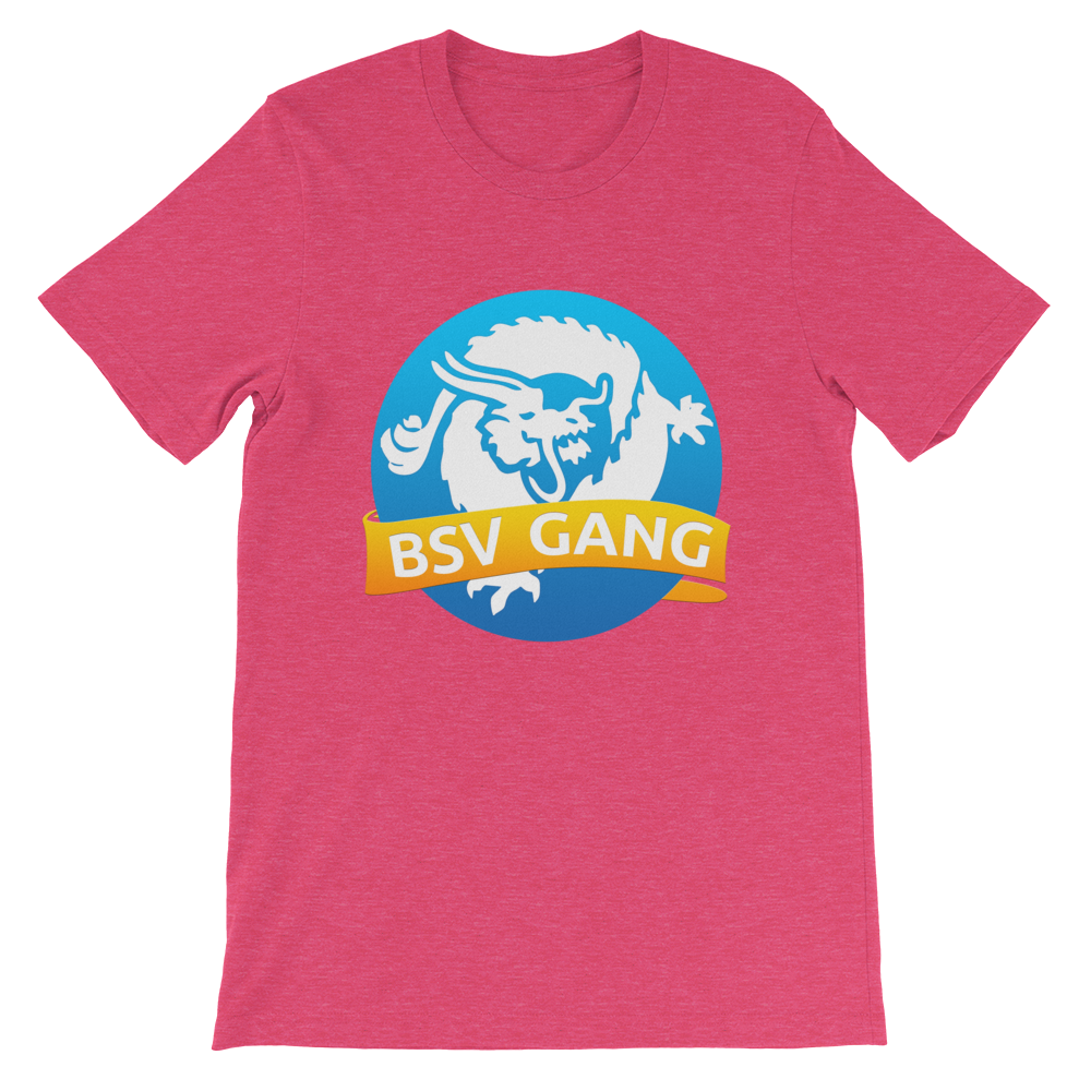 Bitcoin SV Gang Short-Sleeve T-Shirt Heather Raspberry S - zeroconfs