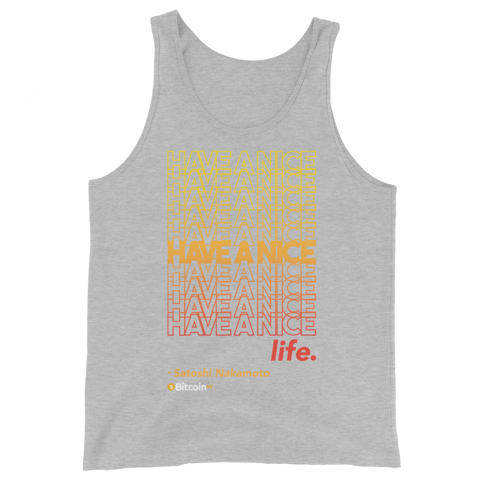 Have A Nice Life Bitcoin SV Tank Top Athletic Heather XS - zeroconfs