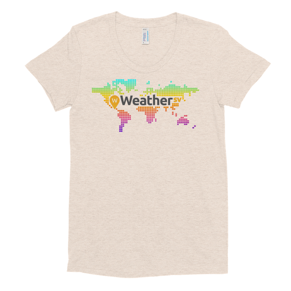 Weather SV Women's Crew Neck T-shirt Tri-Oatmeal S - zeroconfs