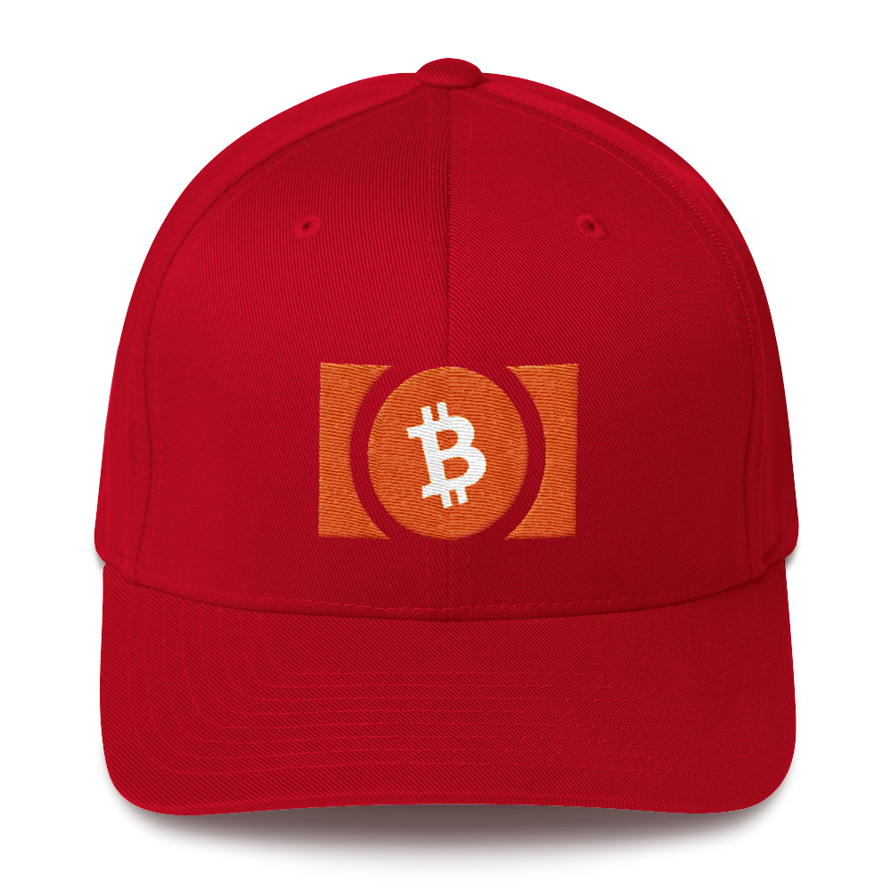Bitcoin Cash Flexfit Cap Red S/M - zeroconfs