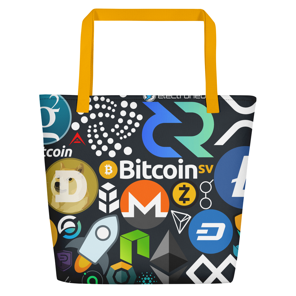 Crypto Calling Beach Bag Yellow  - zeroconfs