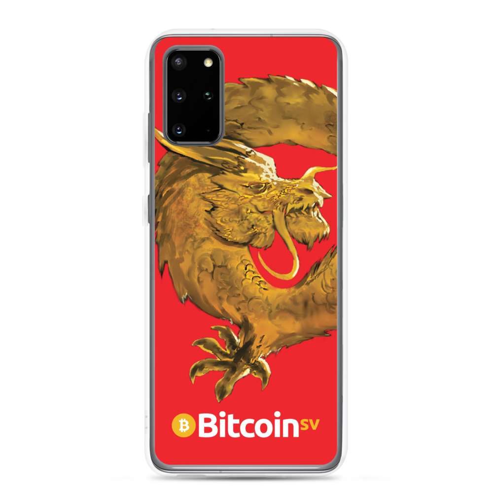 Bitcoin SV Woken Dragon Samsung Case Red Samsung Galaxy S20 Plus  - zeroconfs
