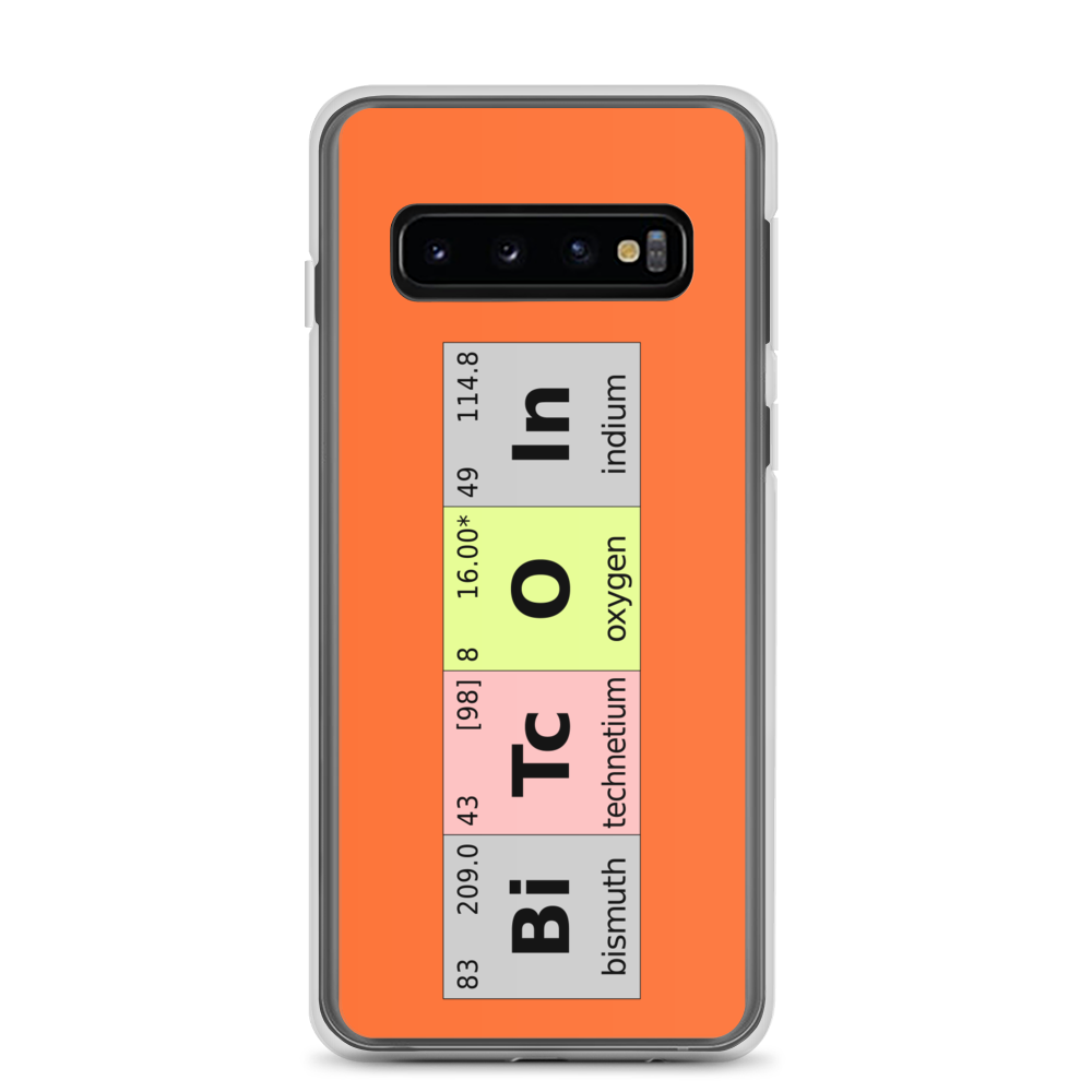Bitcoin Periodic Table Samsung Case Samsung Galaxy S10  - zeroconfs