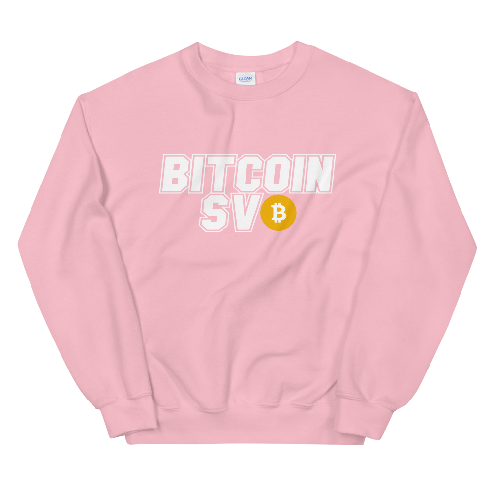 Bitcoin SV Sports Sweatshirt Light Pink S - zeroconfs