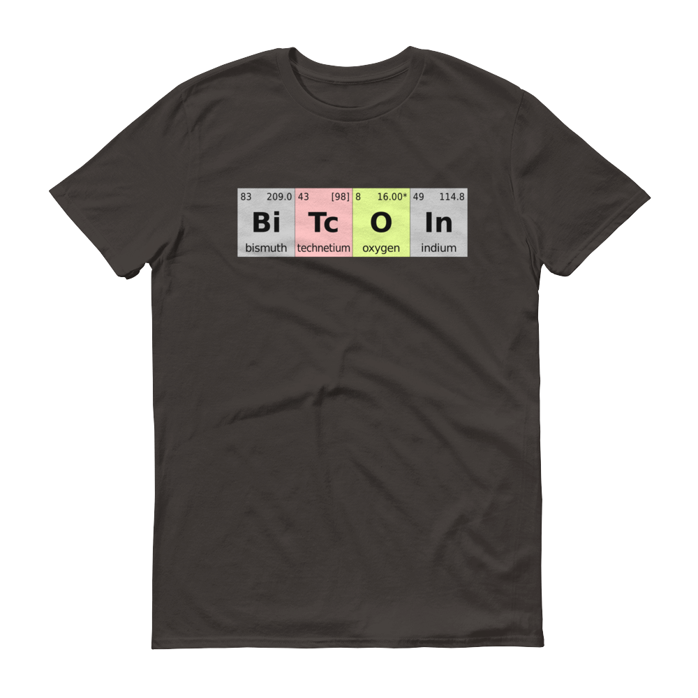 Bitcoin Periodic Table Short-Sleeve T-Shirt Smoke S - zeroconfs