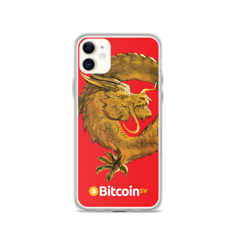 Bitcoin SV Woken Dragon iPhone Case Red iPhone 11  - zeroconfs