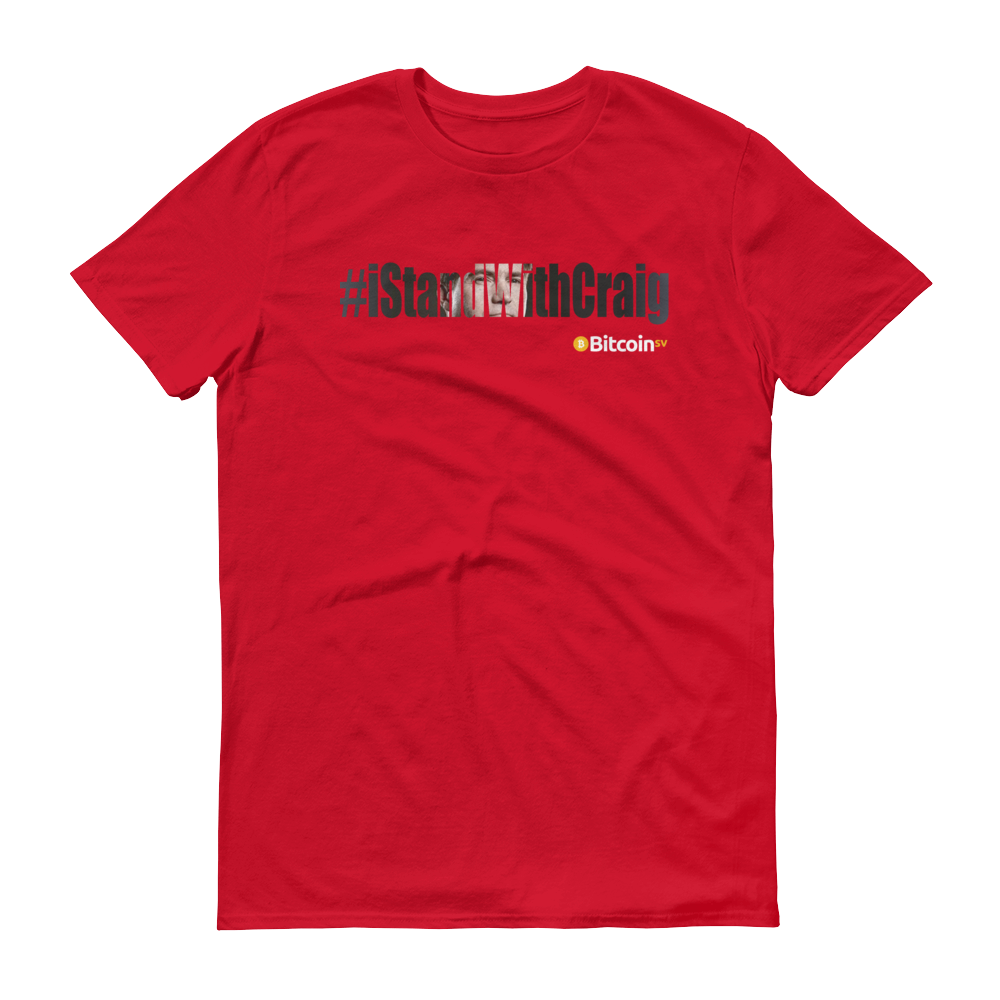 #iStandWithCraig Bitcoin SV Short-Sleeve T-Shirt Red S - zeroconfs