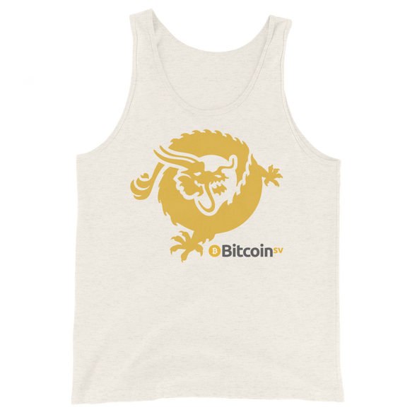 Bitcoin SV Dragon Tank Top Oatmeal Triblend XS - zeroconfs