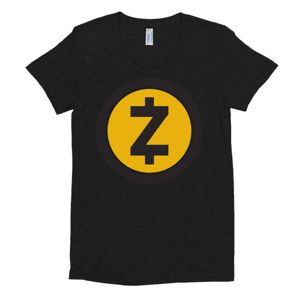 Zcash Women's Crew Neck T-Shirt Tri-Black S - zeroconfs